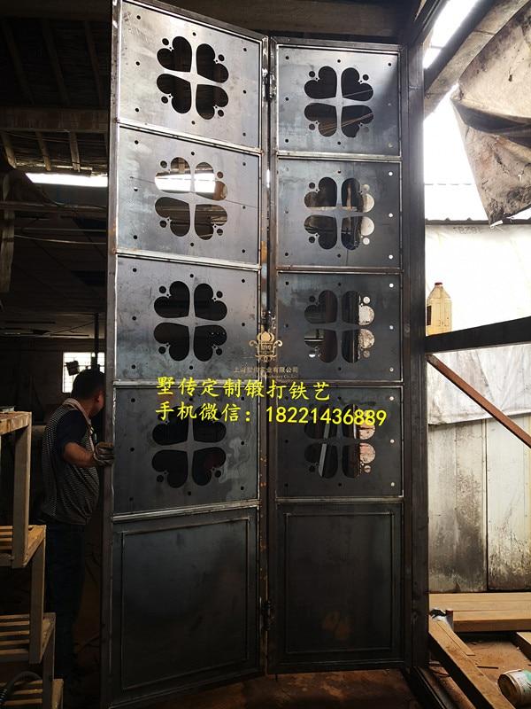 Shanghai Hench Brand China Factory 100% Custom Made Sale Australia Iron Glass Front Door