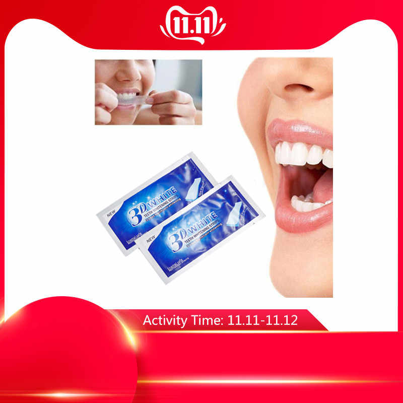 30Pcs/15 Pack Teeth Whitening Strips Oral Hygiene Care Double Elastic 3D White Gel Teeth Strips Whitening Bleaching Tools TSLM2