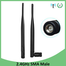 2pcs 2.4 GHz Wifi antenna 5dBi SMA Connector Antena Aerial 2.4ghz antenne wi fi For PCI Card USB Wireless Router Wifi Booster(China)