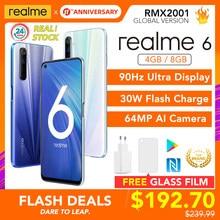 Realme 6 Global Versie Mobiele Telefoon 4Gb/8Gb Ram 128Gb Rom 30W Flash Lading 4300mah Helio G90T 64MP Camera Nfc Eu Plug