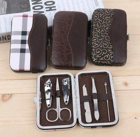 nova 6 pcs set nail art cuidados ferramenta 400set manicure pedicure set prego clipper kit