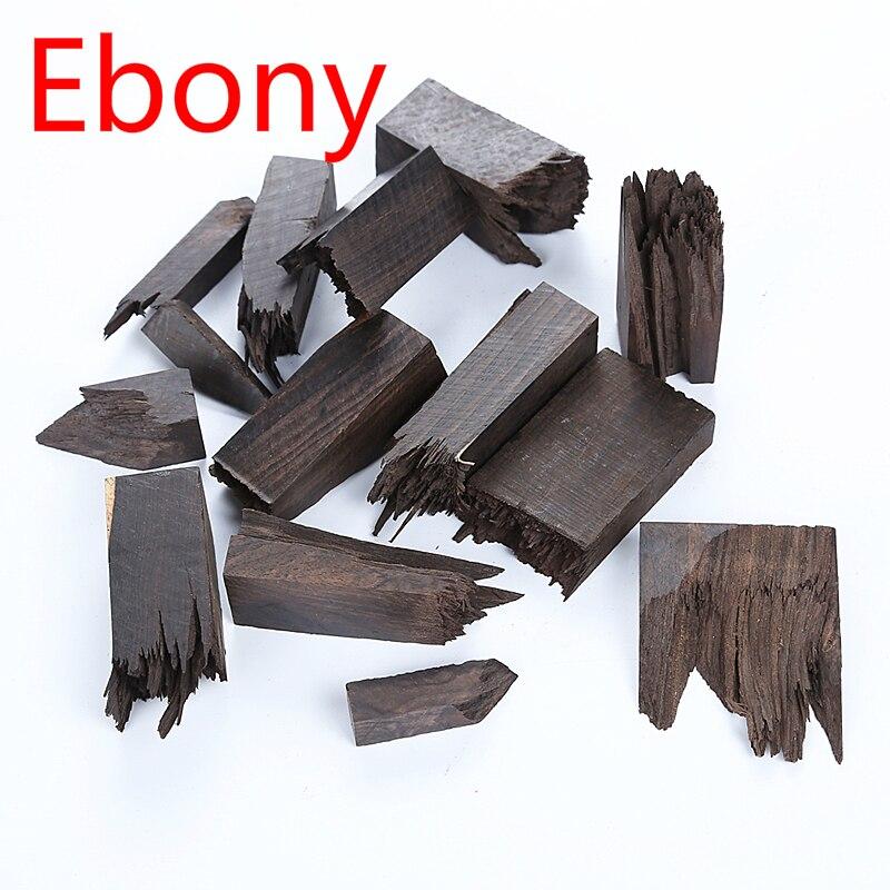 10pcs/set Crystal Drop Glue Broken Irregular Wood Block DIY Epoxy Resin Ab Rubber Ring Seal Blood Sandalwood Ebony Wood Material
