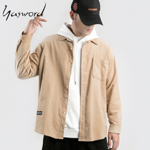 Yasword Brand Casual Shirts Men 2019 New Autumn Long Sleeve Shirt Male Fashion Cotton Solid Color Shirts Free Shipping цена