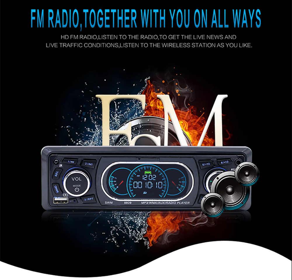 Autoradio Car Radio 12V Bluetooth  Stereo In-dash 1 Din FM Aux Input Receiver SD USB MP3  Player   Audio