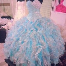 Actual Photo Quinceanera ball gown Girls 2018 Beaded sweetheart ruffles Party Prom Vestido De Festa