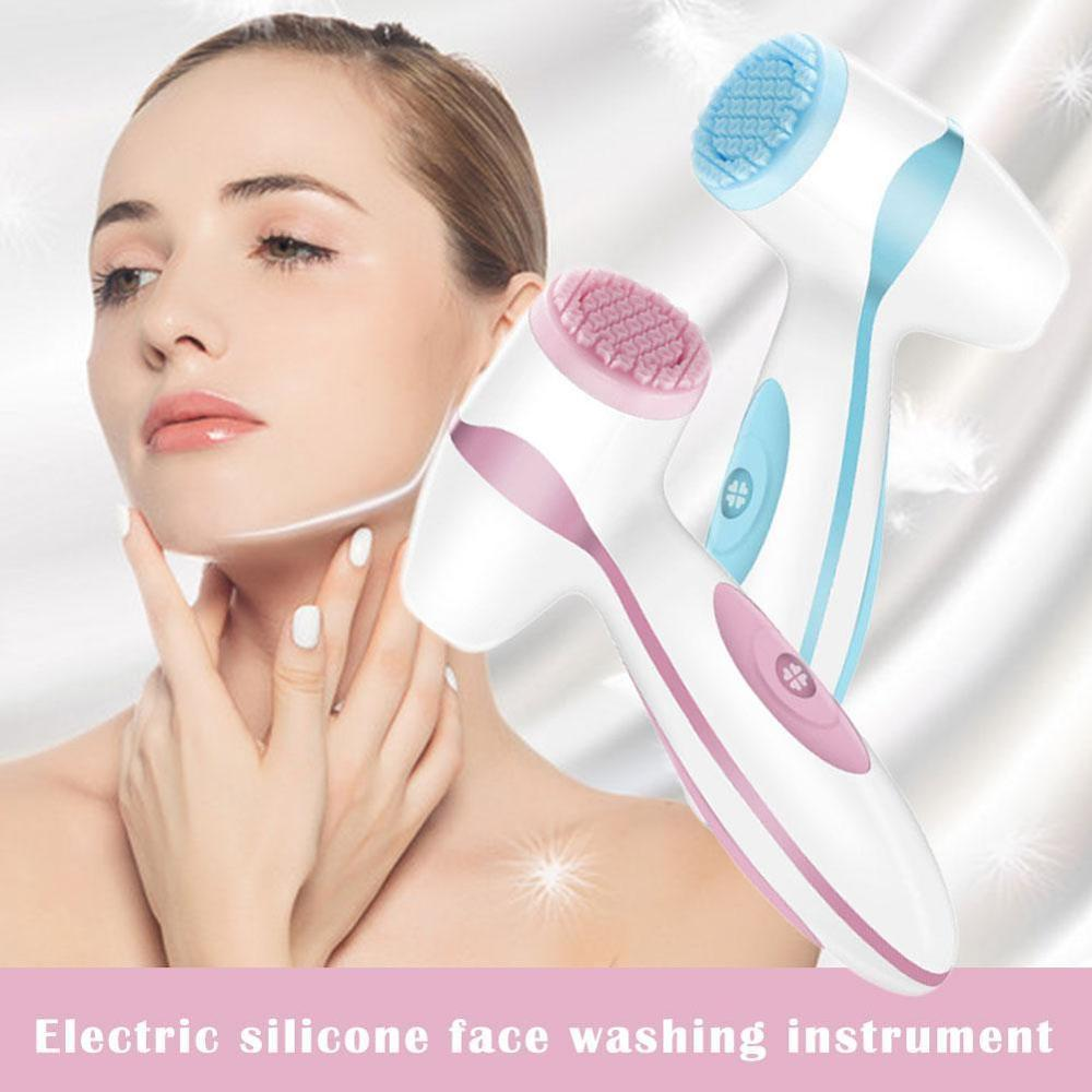 1pc Electric Facial Cleansing Brush Sonic Pore Cleaner Nu Galvanic Spa Skin Care Massager Face lift
