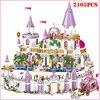 Bloques de construcción de Castillo de princesa para niñas, juguete de piezas de bloques de Castillo de princesa, regalo de Navidad para niños