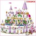 Конструктор принцесса вилла Виндзорский Замок фигурки для девочек «сделай сам» дом для друзей и города развивающие блоки детские игрушки Р...