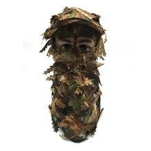 Охотничья камуфляжная листовая шляпа Лесной скрытой маски портативная