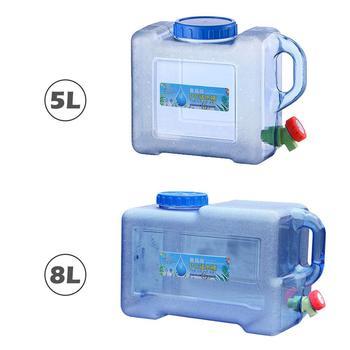 Przenośny do samochodu jazdy wiadro na wodę 5L 8L PC zagęszczony Camping zbiornik na wodę przenośny pojemnik na wodę z kranem na Camping piesze wycieczki tanie i dobre opinie Goxfaca 10L Z tworzywa sztucznego Car Water Container