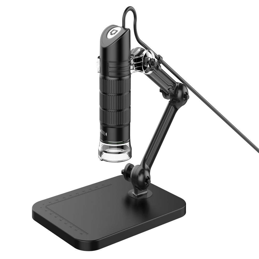 HD USB Digital Microscope LED Electronic Microscope Endoscope Zoom Camera Magnifier+ Lift Stand Tools For Work Life School