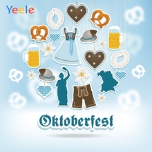 Yeele Oktoberfest Carnival Clothes Breaks Beer Ins Photography Backdrops Personalized Photographic Backgrounds For Photo Studio