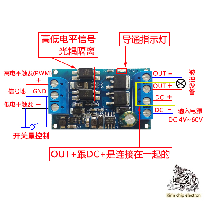 2PCS/LOT High Voltage High Power MOS Tube Trigger Switch Driver Module PWM Adjustment Electronic Switch Control Panel