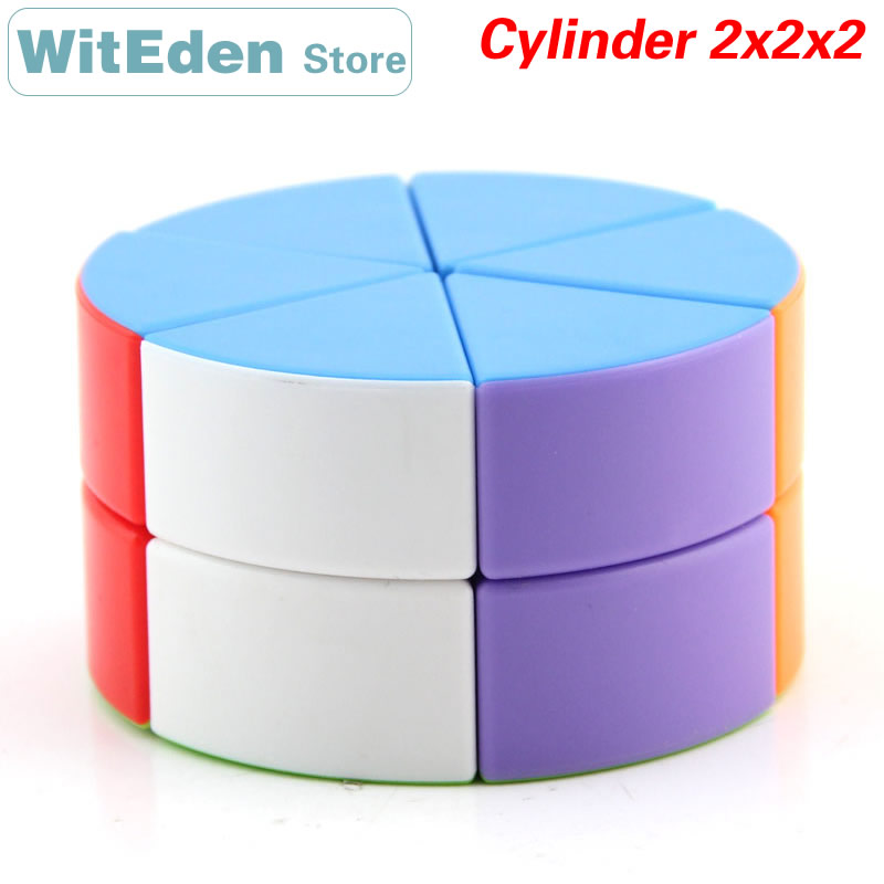 JSYouPin Cylinder 2x2x2 Magic Cube 2x2 Speed Twisty Puzzle Brain Teasers Challenging Intelligence Educational Toys For Children