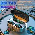 Беспроводной наушники TWS Bluetooth наушники 3500 мА/ч, Батарея спортивная водонепроницаемая гарнитура Hi-Fi 9D стерео наушники с микрофонами