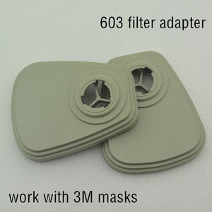Image 2 - 603 Gas Mask Respirator Filter Adapter Work with 6200 7502 6800 Work as Original 603 Adapter Cotton 5N11 Adapter Paint