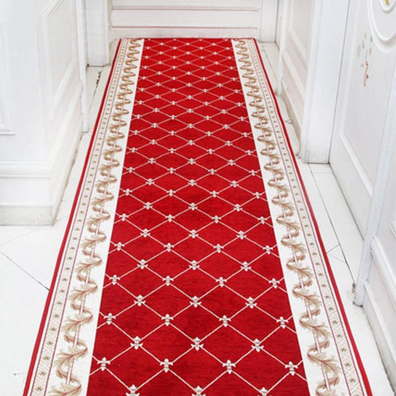 Nordic Stair Long Carpet European Style Corridor Hallway Carpets Hotel Aisle Rug Home Entrance DoormatRug Wedding Floor Rugs