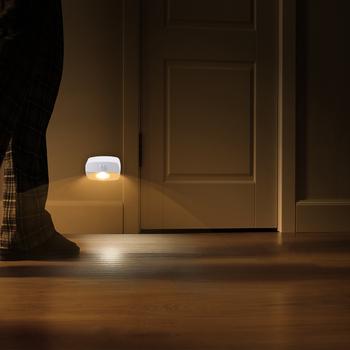 2021 nowa lampa LED z czujnikiem ruchu zasilanie bateryjne bezprzewodowa lampa ścienna lampka nocna bez blasku korytarz szafa szafka LED oświetlenie drzwi tanie i dobre opinie Phikipuals CN (pochodzenie) 30000 HOURS Z aluminium 6 10 Led PIR Motion Sensor Ogniwo suche 1 pcs 120 Degree DC3-6V 2*AAA 4*AAA