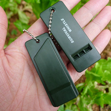 2Pcs/set Survival Whistle First Aid Kits Outdoor Emergency Whistling Signal Rescue Camping Hiking Outdoor Referee Multi-audio