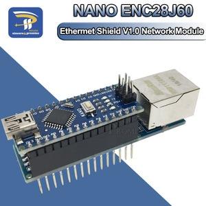 MINI ENC28J60 Ethernet Shield V1.0 RJ45 Webserver Module For Arduino Diy Kit Compatible Nano 3.0 CH340G(China)