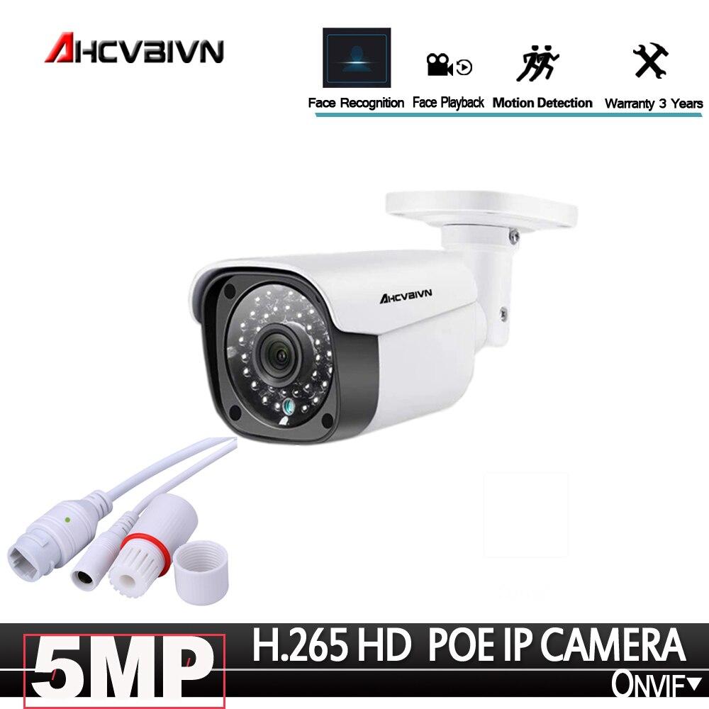 AHCVBIVN 3.6mm Wide IP Camera 5.0MP Email Alert XMEye ONVIF P2P Face Detection 48V POE Surveillance CCTV Outdoor Camera