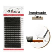 Klacuva 0.03-0.10 individual eyelashes russian volume mink eyelash extensions 16lines mega lash makeup lashes