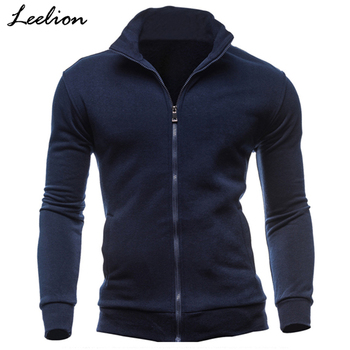 IceLion 2019 New Hoodies Men Fleece Zipper Sweatshirts Autumn Spring Stand Collar Sportswear Slim Male Solid Hip Hop Tracksuit