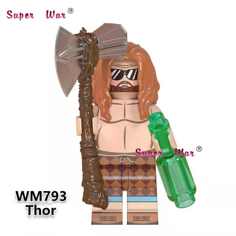 Single Avengers Endgame Thor Captain America Iron Man Howard Carter Black Panther Shuri Gamora hawkeye building blocks Kids Toys
