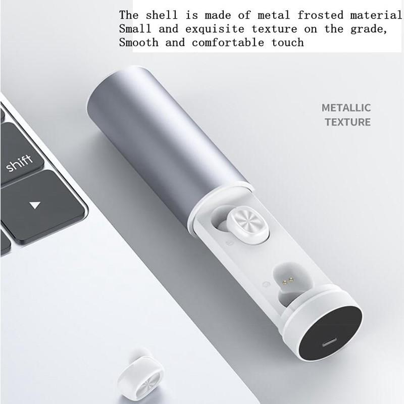 Smart touch wireless 5.0 binaural bluetooth headset sports sweatproof, power display digital display, long battery life