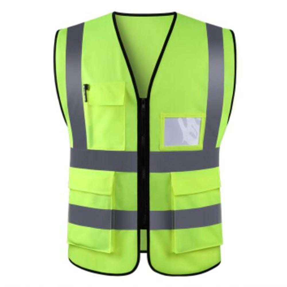 Yellow High Visibility Safety Vest Waistcoat XXL//3XL Bib EN471