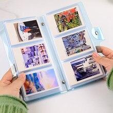 72 bolsillos PVC álbum de fotos Bolsa porta tarjetas de 3 pulgadas macho en bolso de tarjeta de negocios de claro Color jalea álbum Mini Instax y Tarjeta De Nombre