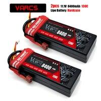 VARCS-batería 3S Lipo de 11,1 V, 8400mah, 7000mAh, 6000mah, 5200mah, 60C, 130C, 140C, 100C, carcasa rígida para RC 1/8 /10, coches, camiones y barcos, 2 uds.