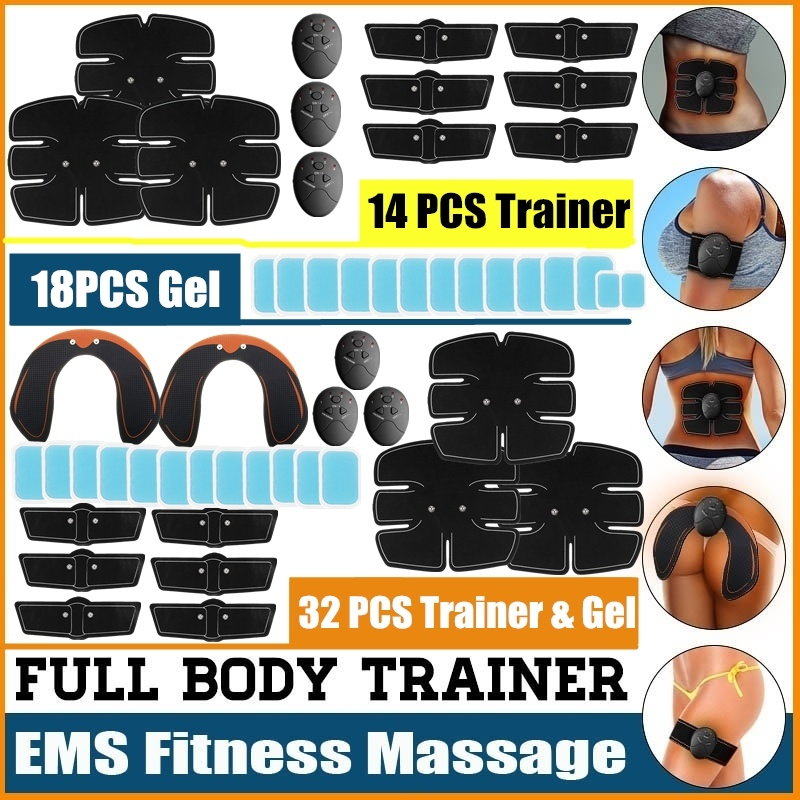 All Series 32/14/18PCS/SET Bodybuilding Training Trainer Professional EMS Fitness Shaper Trainer Replacement Gel Body Slimming