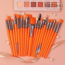 Eyeshadow-Brush-Set Makeup-Brushes Foundation Natural-Hair Professional 20pcs Cosmetic-Tools