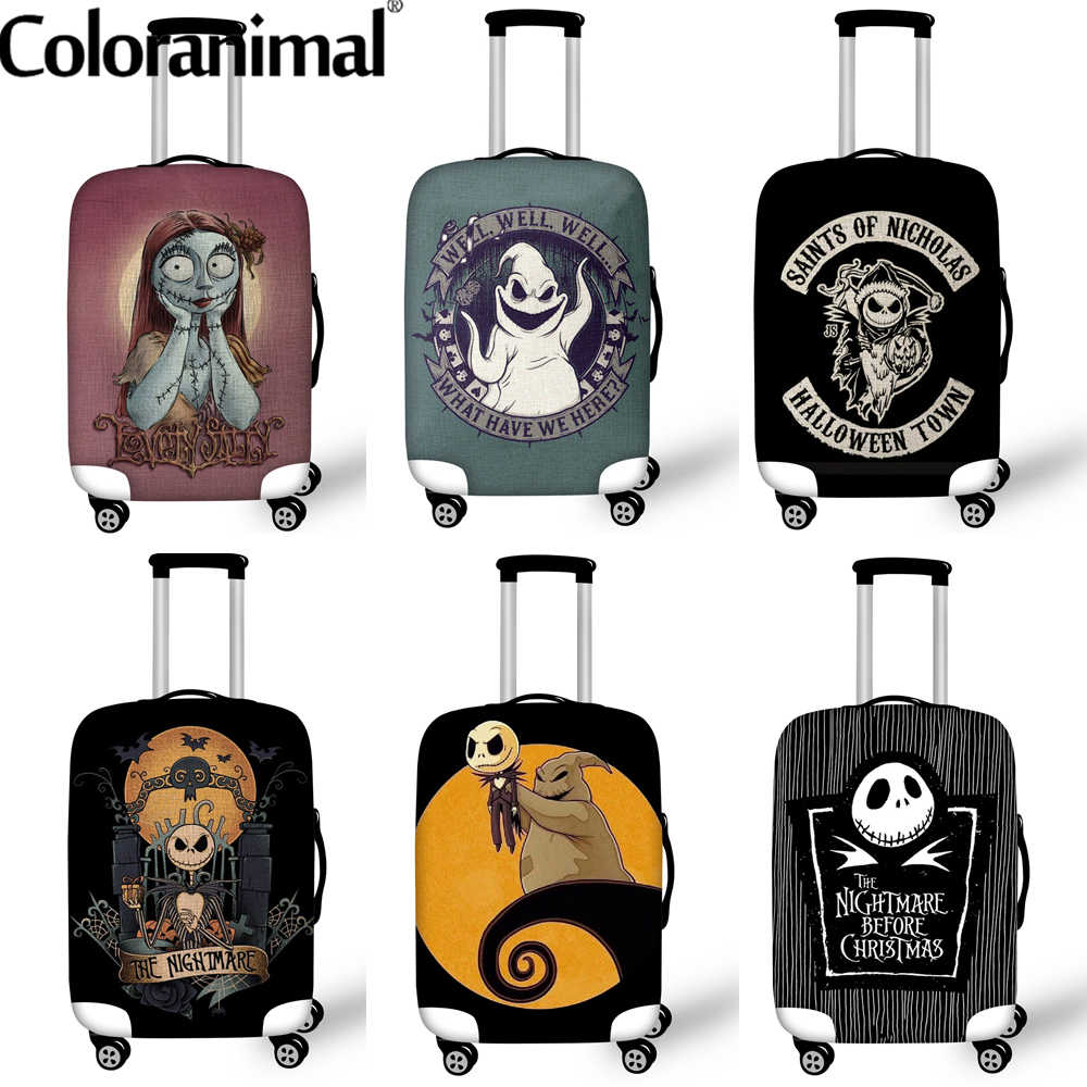 Coloranimal 2020 Bagage Beschermende Covers De Nightmare Before Christmas Koffer Cover Reizen Organizer Grootte 18-32 Inch