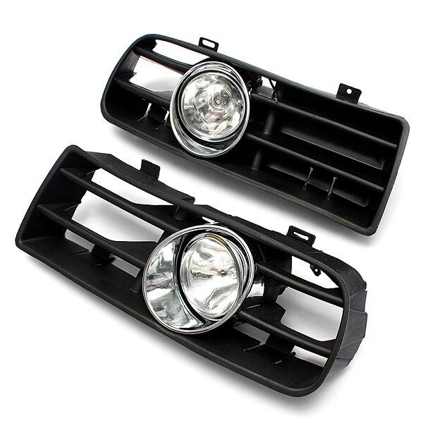 Hot Sale 2Pcs FRONT LEFT RIGHT FOG LIGHT LAMP GRILLE GRILL SET for VW GOLF MK4 IV 1998-2005