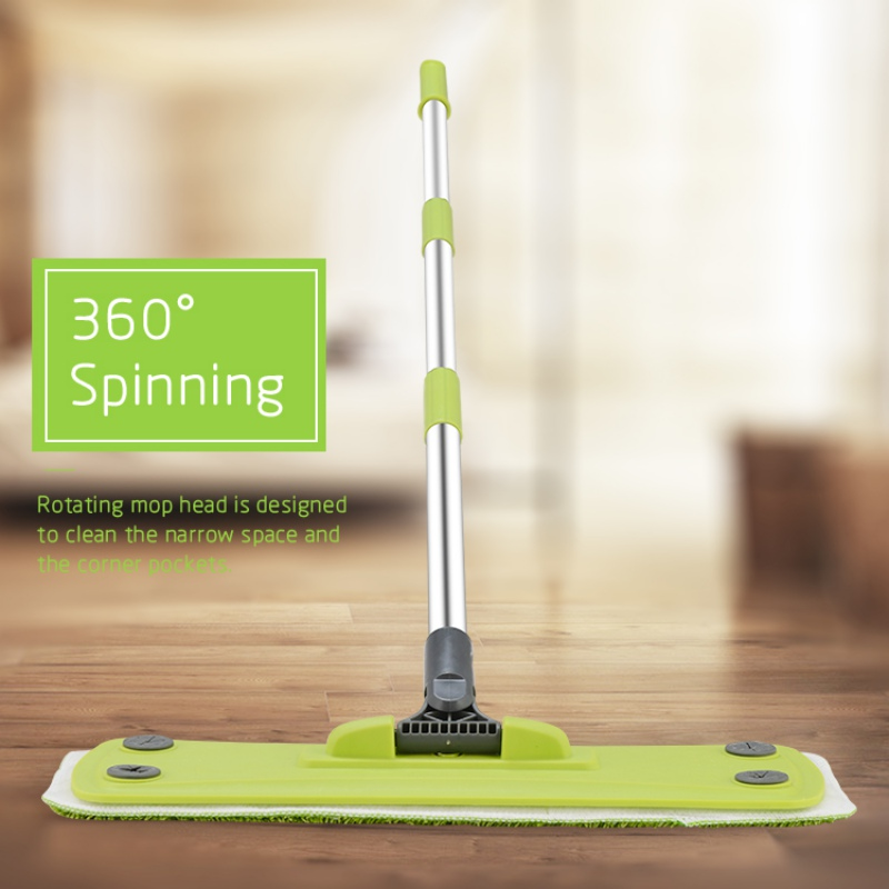 Home Dust Sweeping Tile Wood Floor Mops Wet And Dry Flat Mops Hardwood Floor Mop Flat Mop Pads Cleaning Tools image