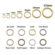 200pcs/lot 4 5 6 8 10 12mm Jump Rings DIY Jewelry Making Connector Split Rings Jewelry Accessories Findings Supplies