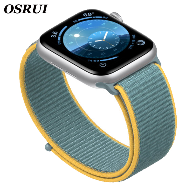 Strap For Apple Watch Band 42mm 38mm Sport Loop 5 4 44mm 40mm Iwatch Series 3 2 Watchband Bracelet Breathable Accessories