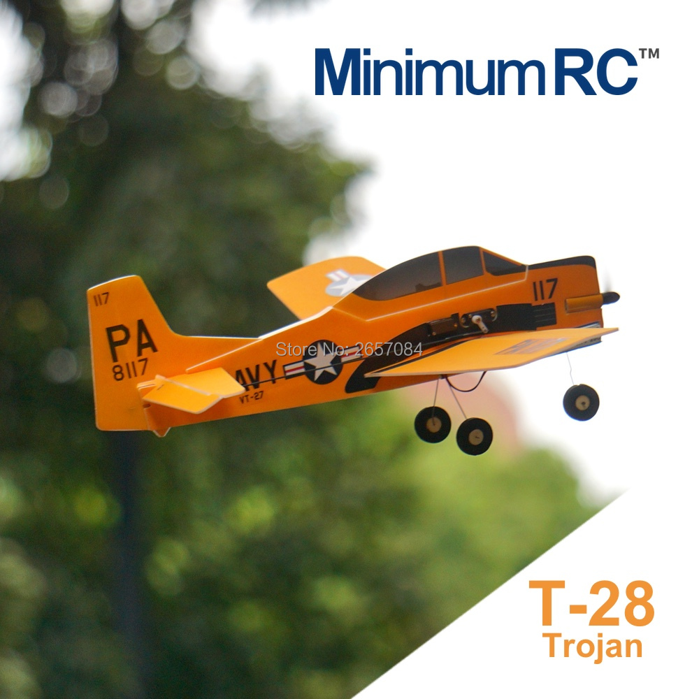 MinimumRC T-28 Trojan 360mm Wingspan 3 Channel Trainer Fixed-wing RC Airplane Outdoor Toys For Children Kids Gifts image