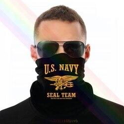 Equipe do selo da marinha dos eua o único dia fácil foi ontem bandana lenço pescoço mais quente unisex