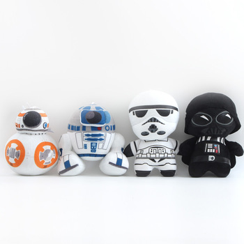 Disney Star Wars Black Knight Darth Vader BB-8 Anime Figure Plush Toys Anime Plush Spiderman Cute Doll Boy Girl Toys for Kids hasbro star wars doll model collections children s toys darth vader obi wan binks action figure