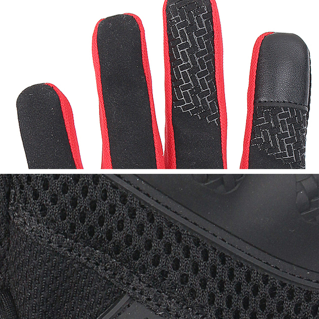 SCOYCO Motorcycle Gloves Summer Breathable Mesh Moto Gloves Touch Function Motorbike Gloves Motocross Off-Road Racing Gloves 5