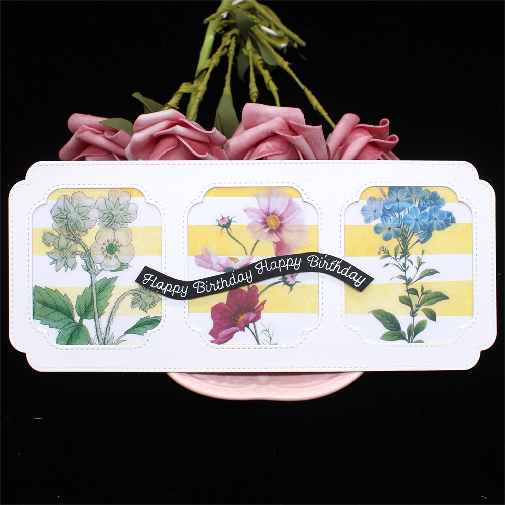 KLJUYP Slimline Cards With Clouds Metal Cutting Dies Scrapbook Paper Craft Decoration Dies Scrapbooking