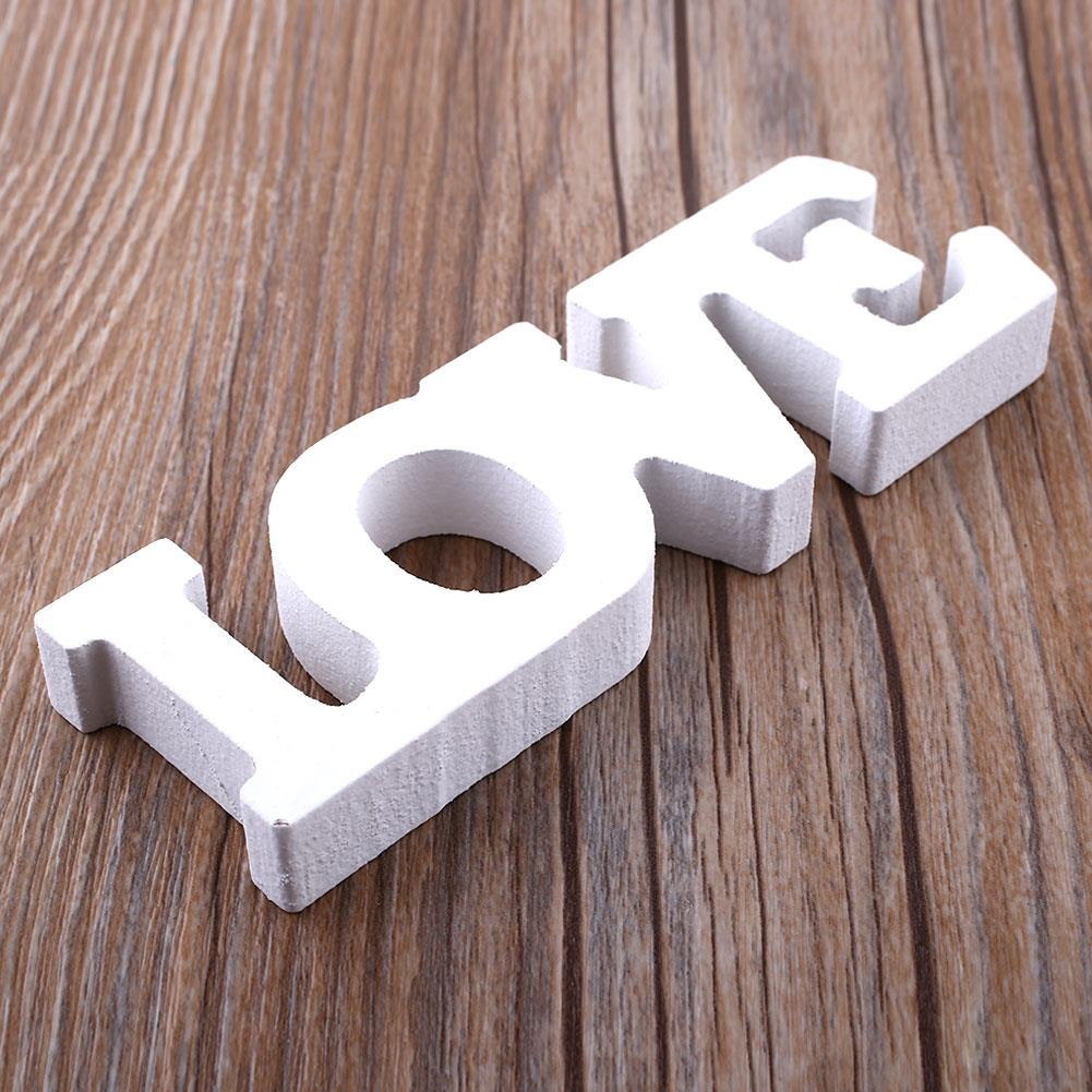 12x4x1.2cm Romantic Creative Home Brideg Bar Cafe Decal Wedding Anniversary Wooden Letter