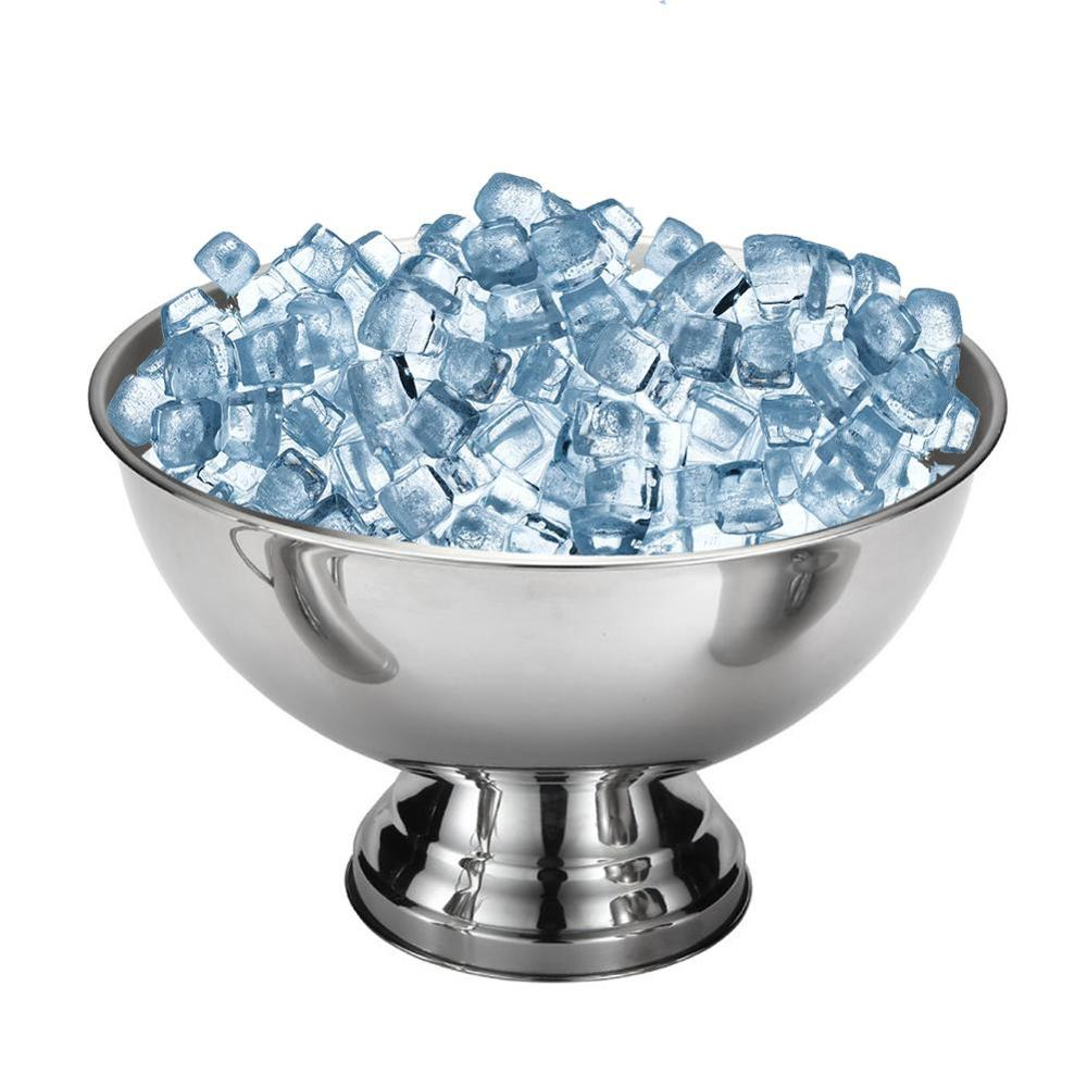 Stainless Steel Ice Bowl Beer Barrel Champagne Wine Ice Bucket Fried Ice Cream Bowl Salad Dessert Cup Wine Whiskey Beer Cooler image