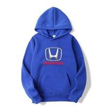 2021 New Men's Hoodie HONDA Car Logo Printing Men's Women's Hooded Casual Wear Pullover Sportswear Asian Size S 3XL