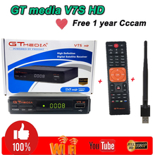 Satellite Finder Receptor netflix GTmedia v7s HD theater 1 year free Europe 7 clines Home