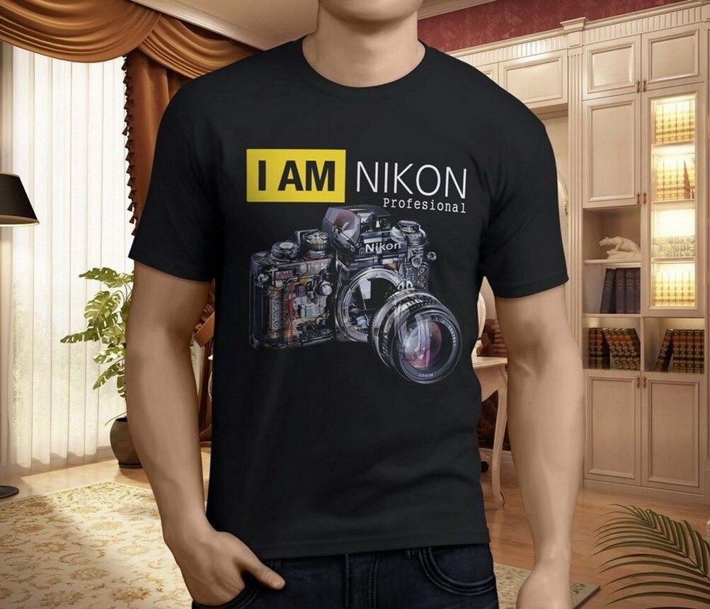 New Profesional Nikon Photography Men's Black T-Shirt Size S-3XL TEE Shirt Brand Clothing Tops
