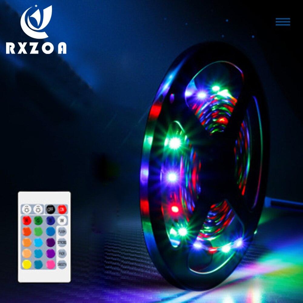 LED Strip Light RGB 5050 SMD 2835 Flexible Ribbon Fita RGB 5M 10M 15M Tape Led Light Strip For Home Kitchen Christmas Party